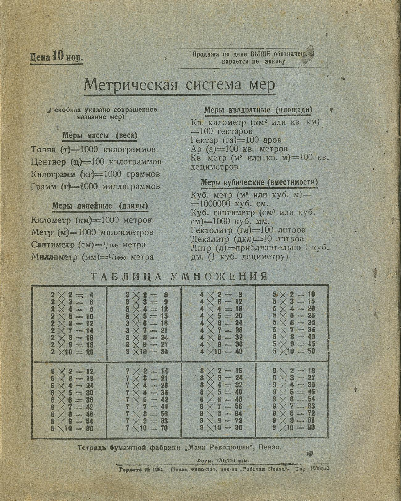 Тетрадь Ленин Сталин оборот