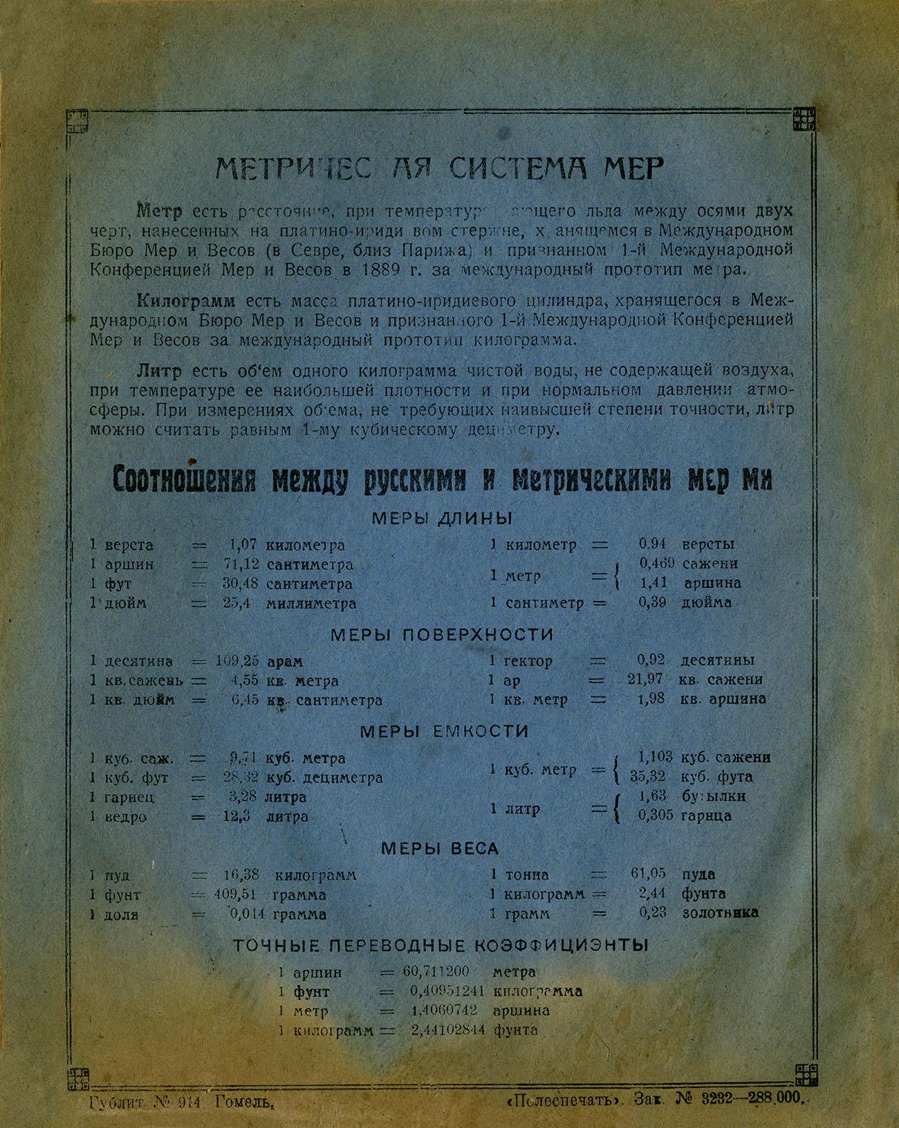 Тетрадь Крупская, вероятно 1929, Гомель, оборот