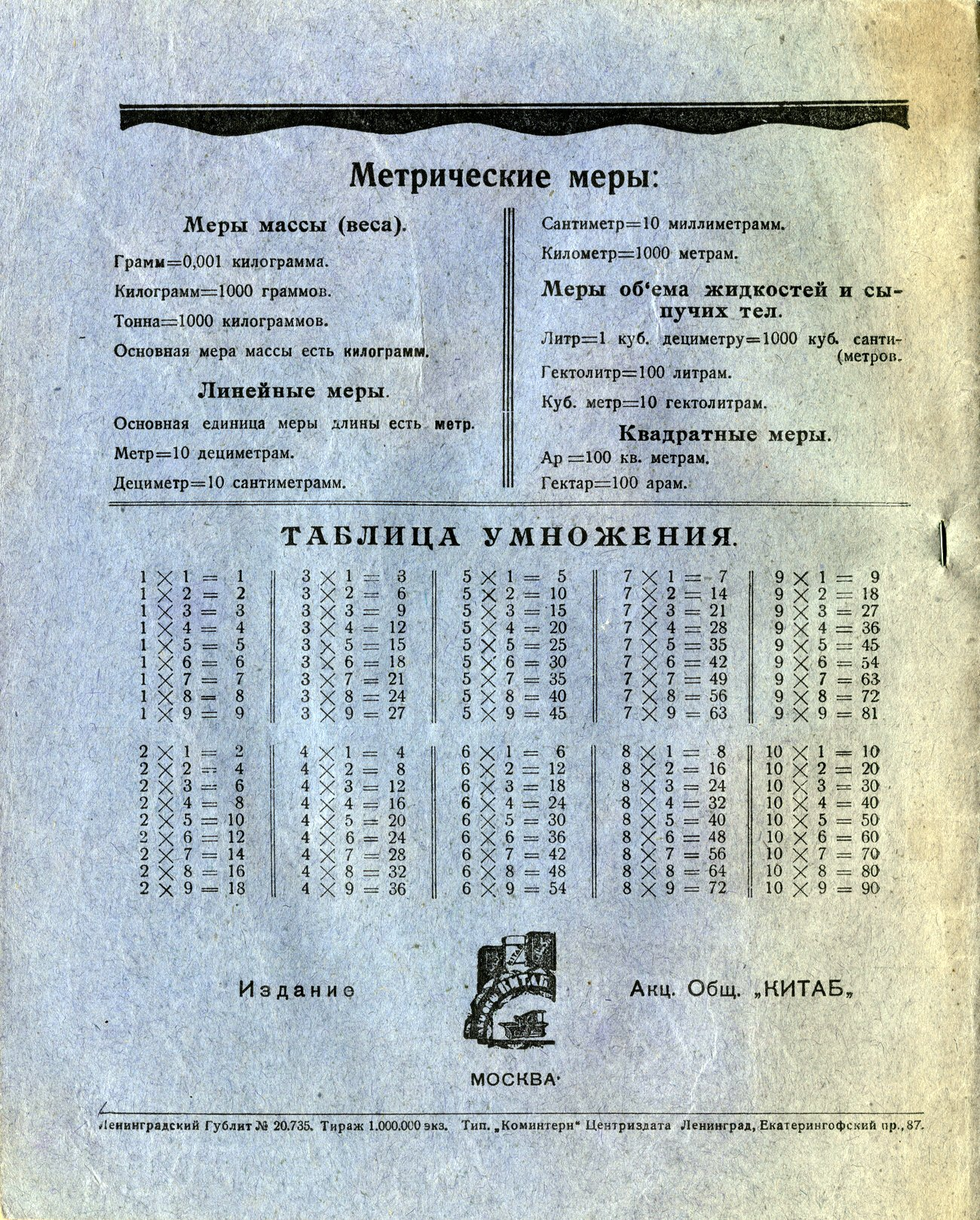 Тетрадь издательство КИТАБ, 175х220, оборот