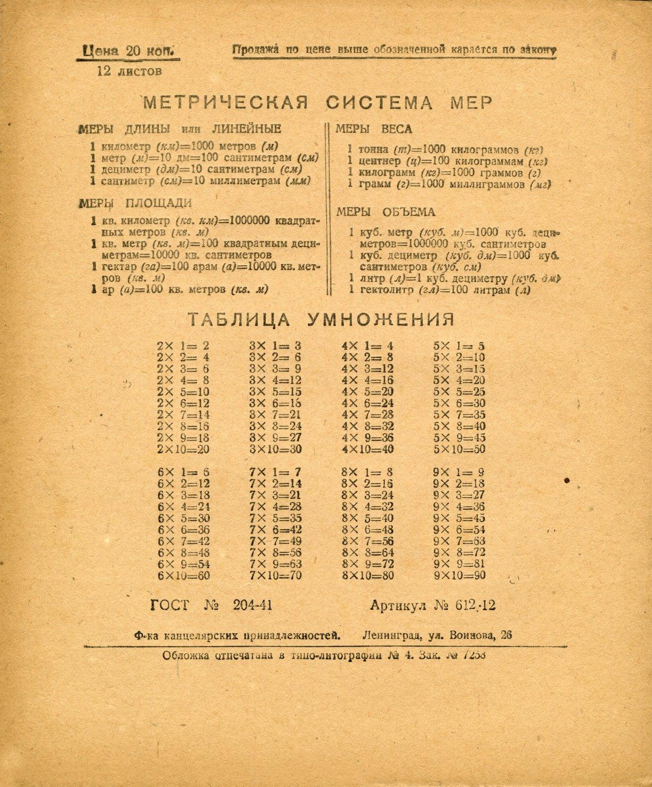 Тетрадь СССР 31 оборот