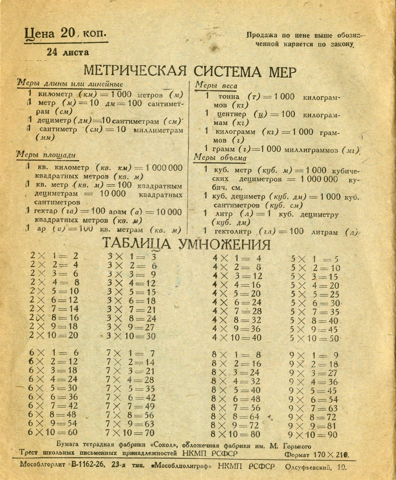 Тетрадь СССР 33 оборот